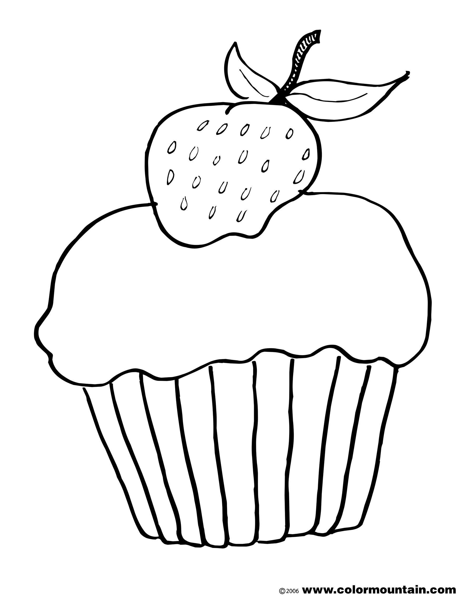 1800x2294 Drawn Cupcake Strawberry Cake