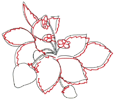 400x350 Drawn Strawberry Strawberry Leaf