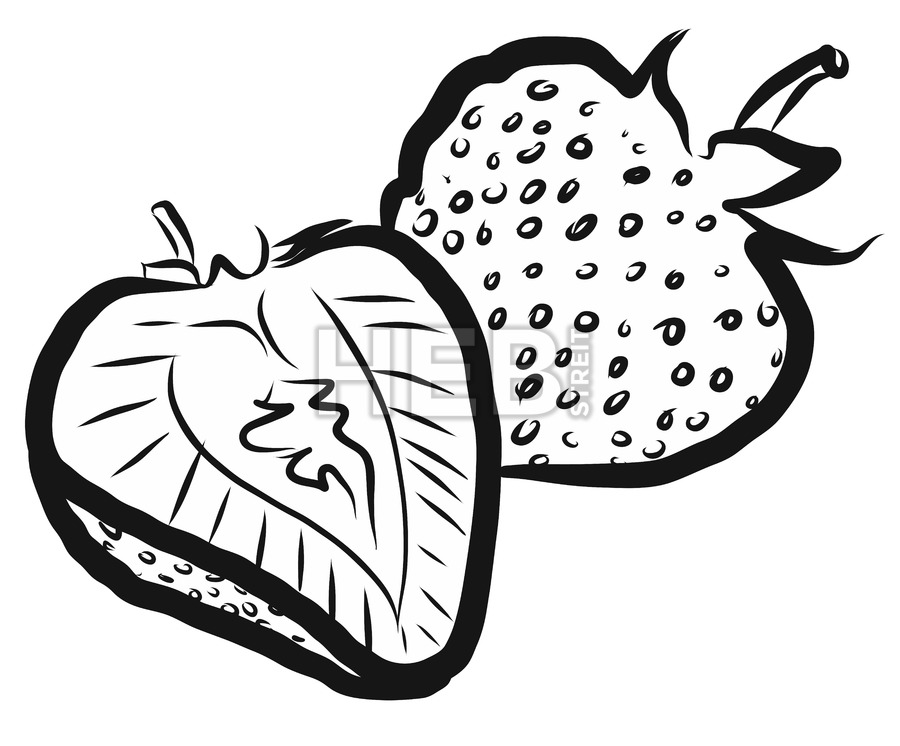 900x746 Strawberries Outline Vector Illustration Hebstreits