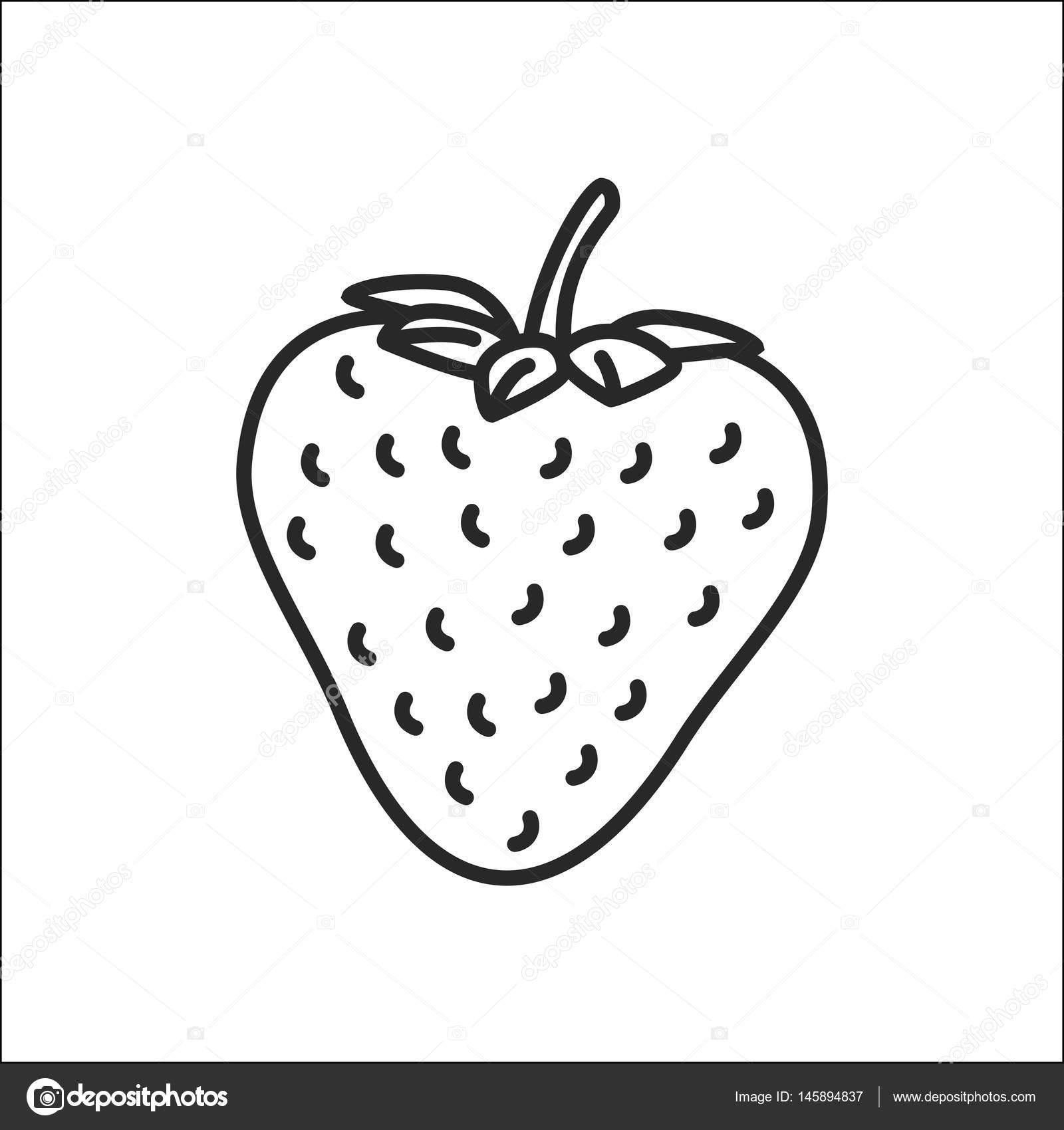 1600x1700 Strawberry Vector Icon Stock Vector Diztikhonov