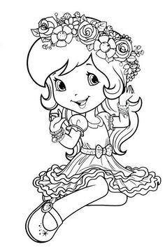 236x355 Strawberry Shortcake Coloring Page Strawberry Shortcake