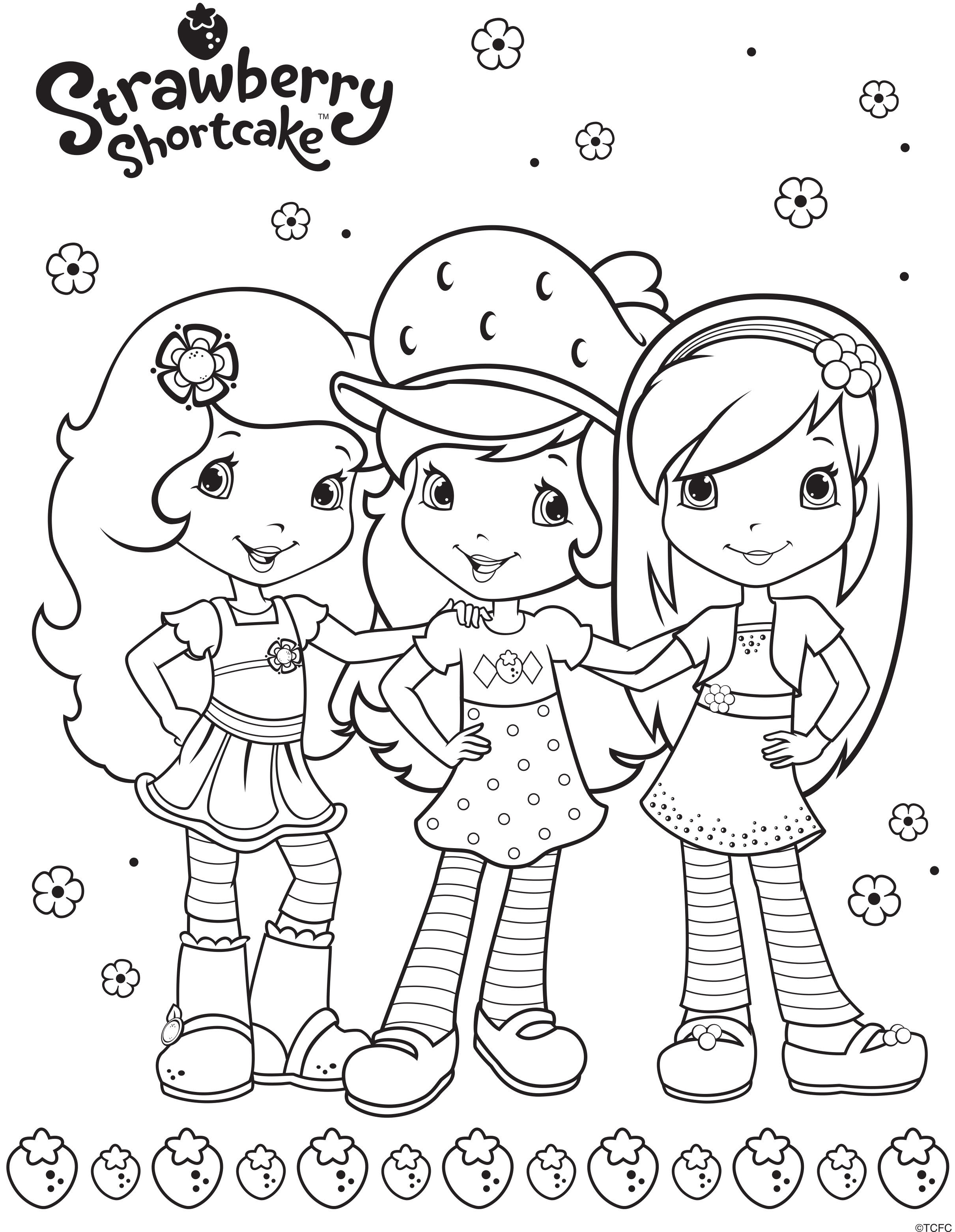 2421x3123 Strawberry Shortcake Berry Friends Forever Beyond The Marquee