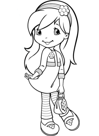 348x480 Strawberry Shortcake Raspberry Coloring Pages Colouring For Pretty