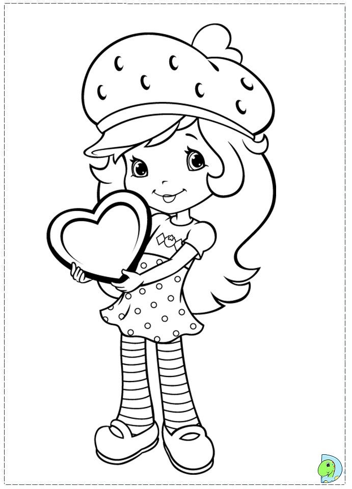 691x960 Strawberry Shortcake Coloring Page