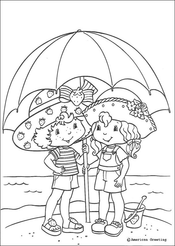 607x850 Strawberry Shortcake And Angel Cake Coloring Pages