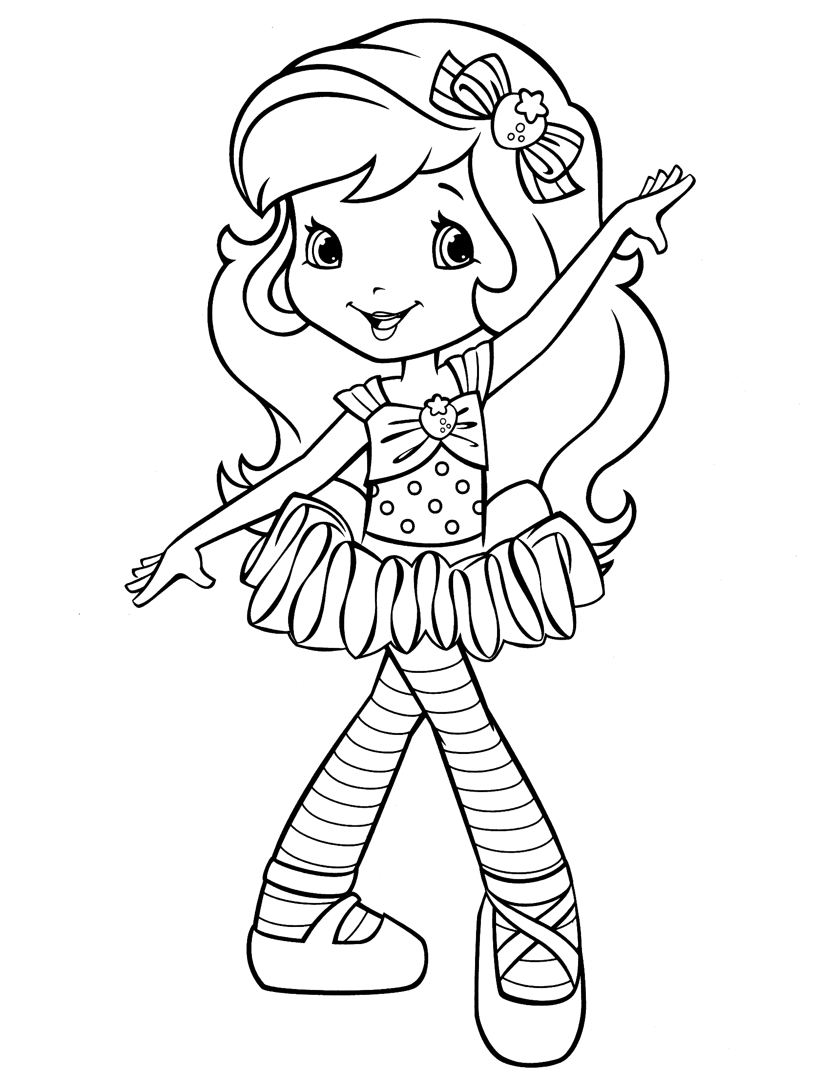 1700x2200 Strawberry Shortcake Coloring Page Alexa Adult