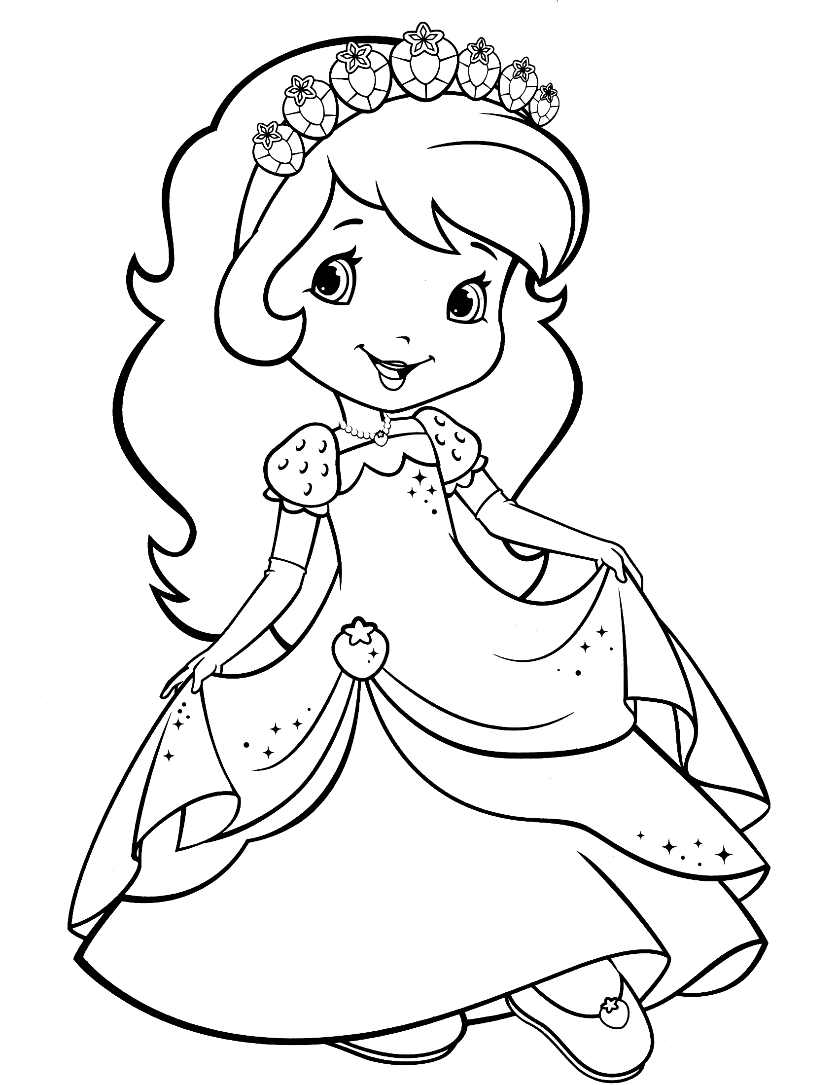 1700x2200 Strawberry Shortcake Coloring Page Strawberry Shortcake Coloring