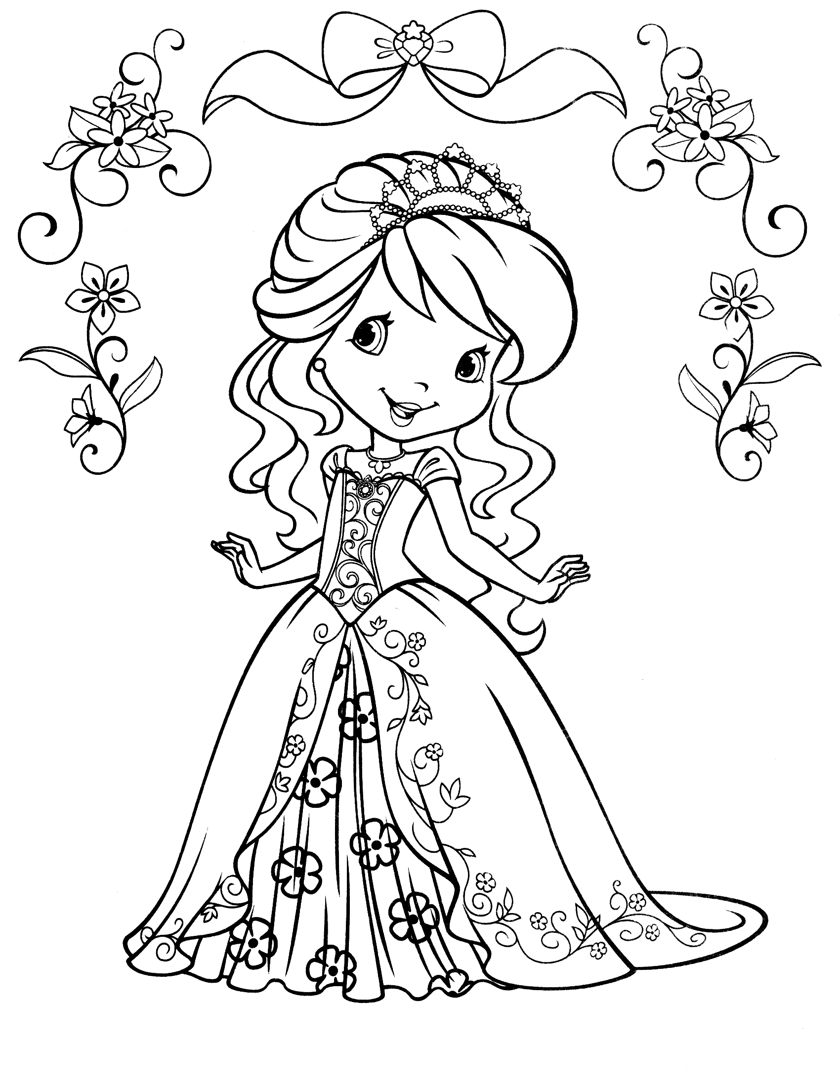 1700x2200 Coloring Pages Stunning Strawberry Shortcake Coloring Pages