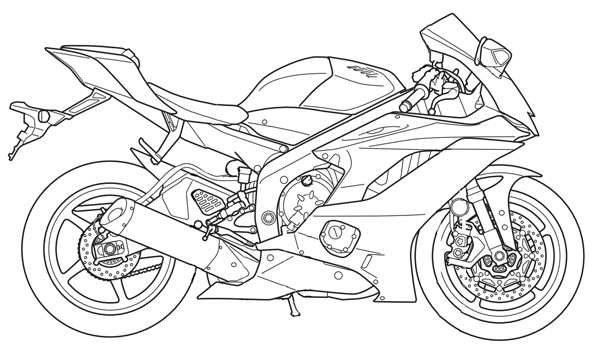 Street Bike Drawing