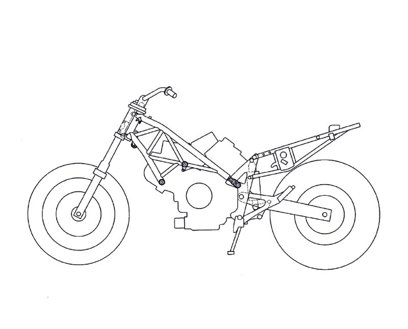 Street Bike Drawing At Getdrawings Com