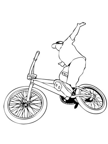 360x480 Riding Bmx Bike Coloring Page Free Printable Coloring Pages