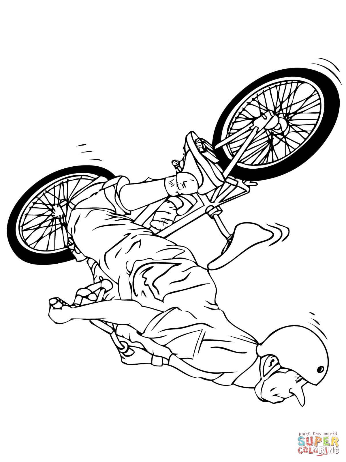 1200x1600 Bmx Flipwhip Coloring Page Free Printable Coloring Pages