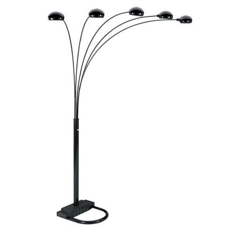 800x800 5 Lite Arc Floor Lamp