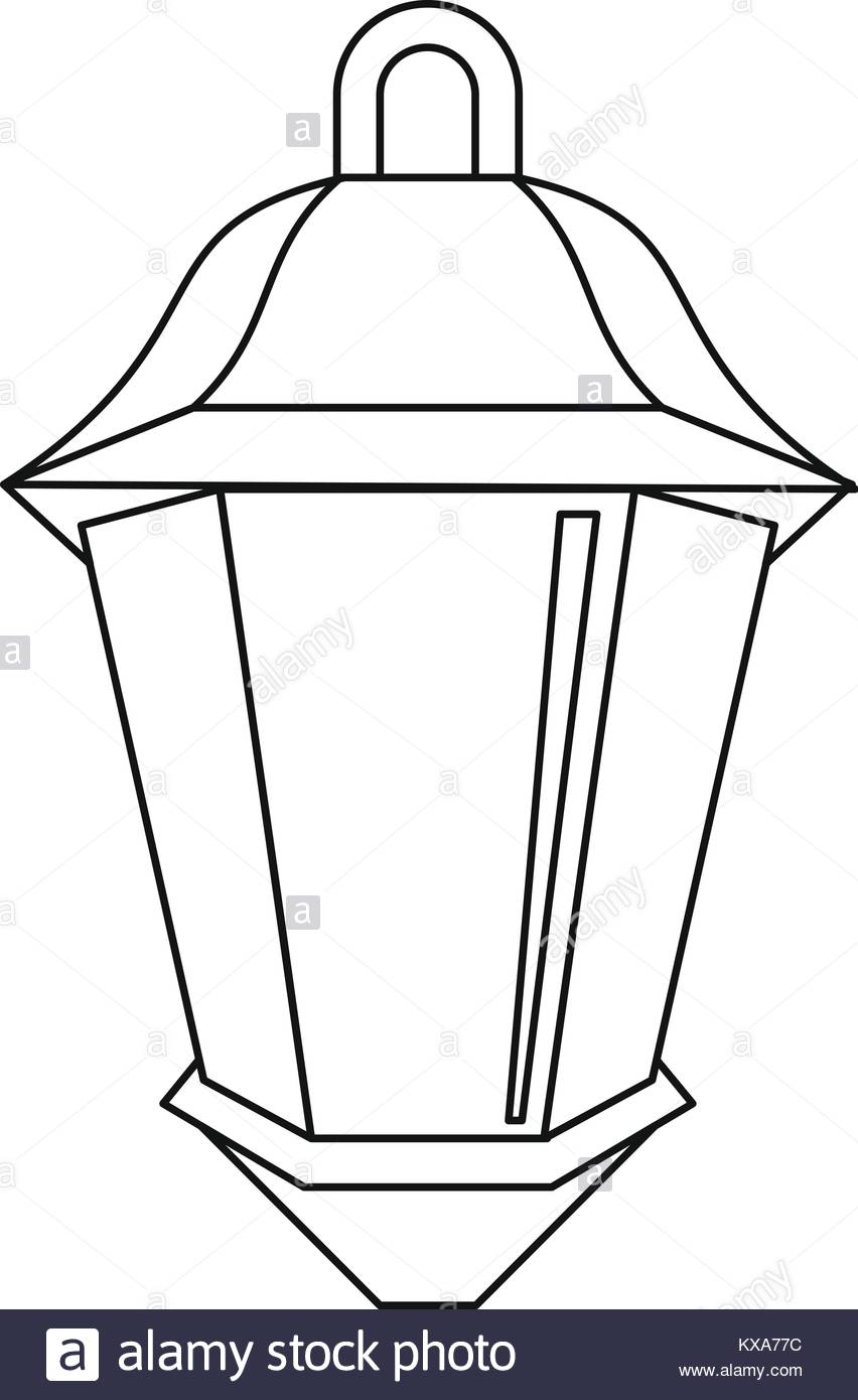 852x1390 Street Lamp Icon Outline Style Stock Photos Amp Street Lamp Icon