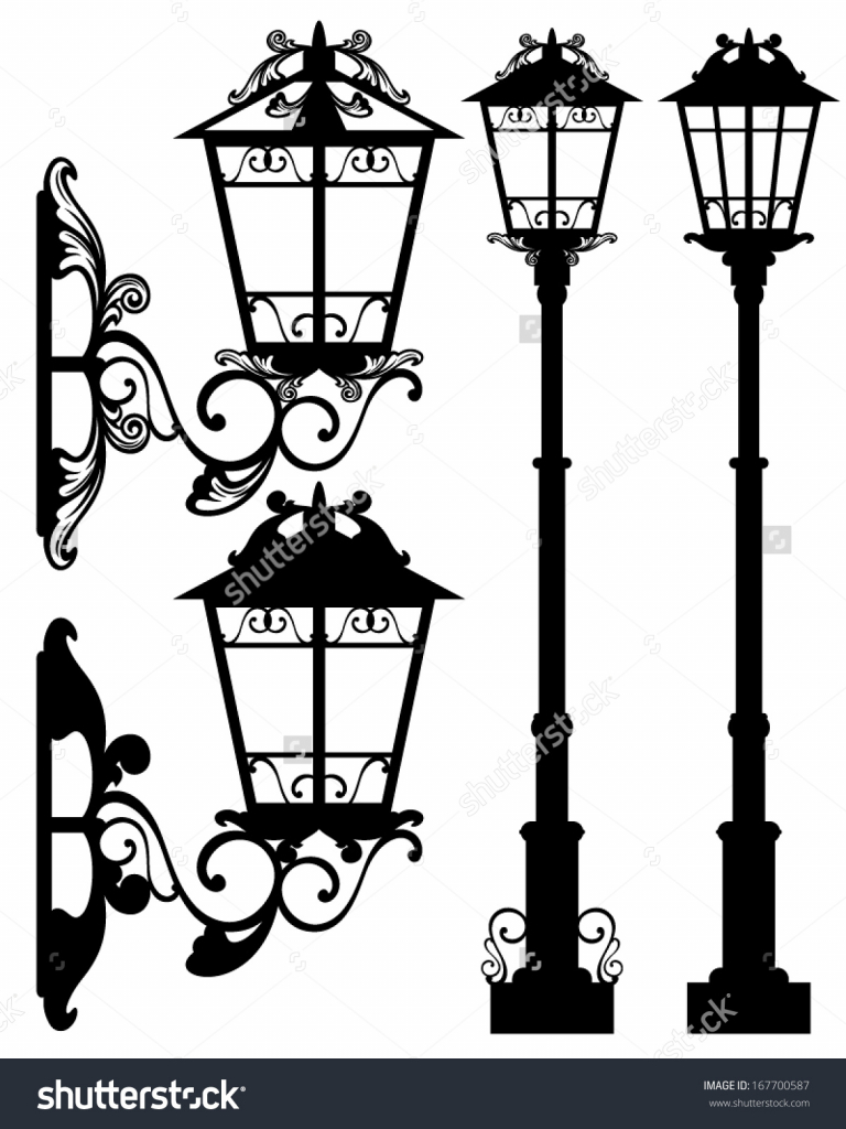 768x1024 Antique Street Lamp Antique Street Light Silhouettes Detailed
