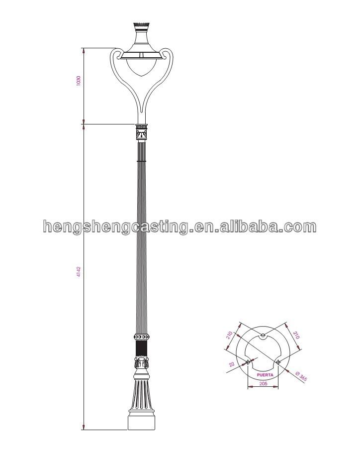 722x930 Hot Sale Villa Lamp Polesstreet Light,lamp Poles Molde Farol