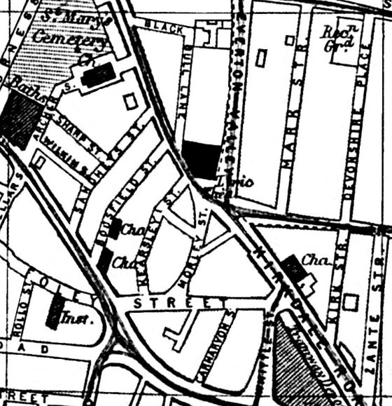 560x579 Liverpool, Streets, Liverpool Street Map A Z 1901 Section H7 Old