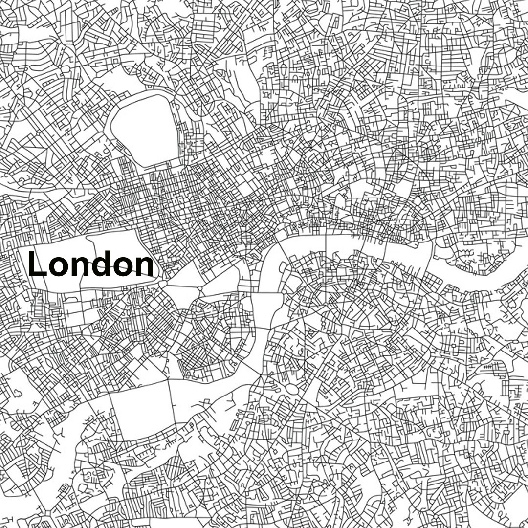 1080x1080 Urban Morphology These Maps Of Central New York City, London