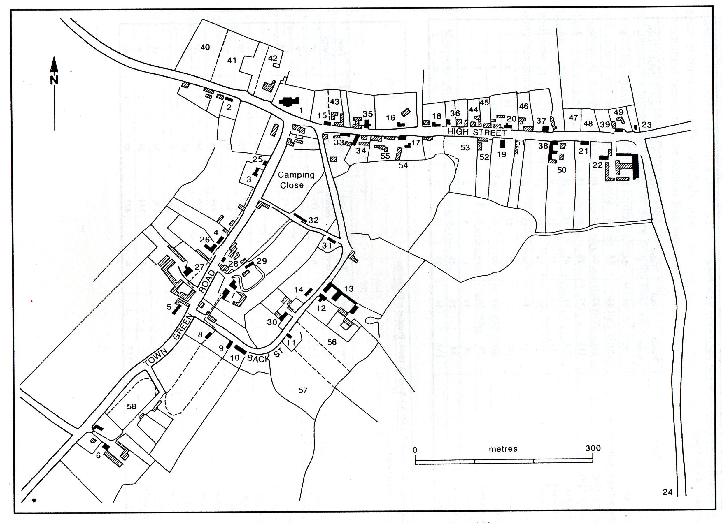 2476x1795 A Street Map, And An Index Map Showing Each Historic Building