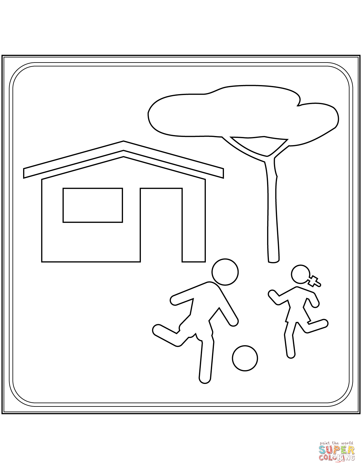 1159x1500 Living Street Sign In Italy Coloring Page Free Printable