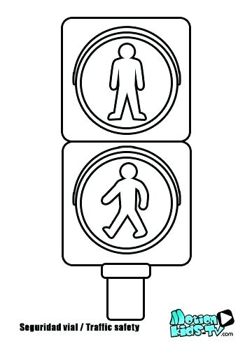 350x495 Printable Traffic Signs Coloring Pages Coloring Page Autumn Street