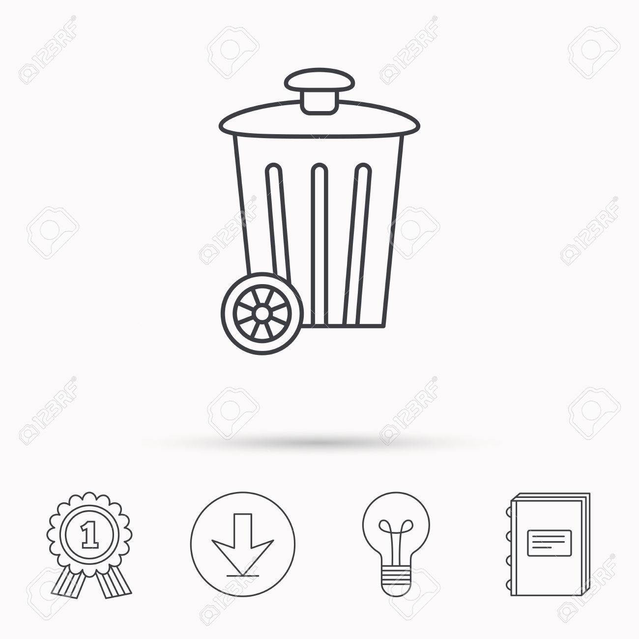 1300x1300 Recycle Bin Icon. Trash Container Sign. Street Rubbish Symbol