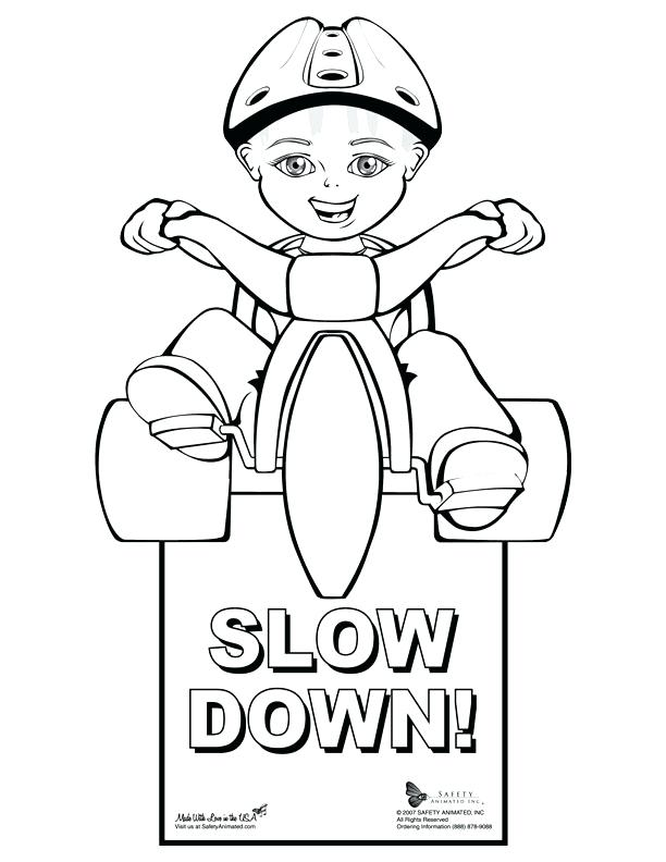 612x792 Street Sign Coloring Pages