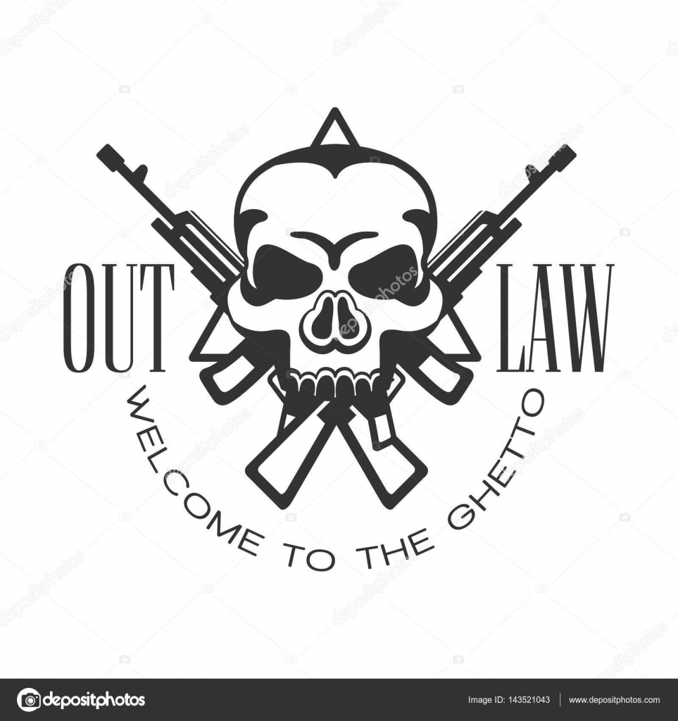 963x1024 Criminal Outlaw Street Club Black And White Sign Design Template