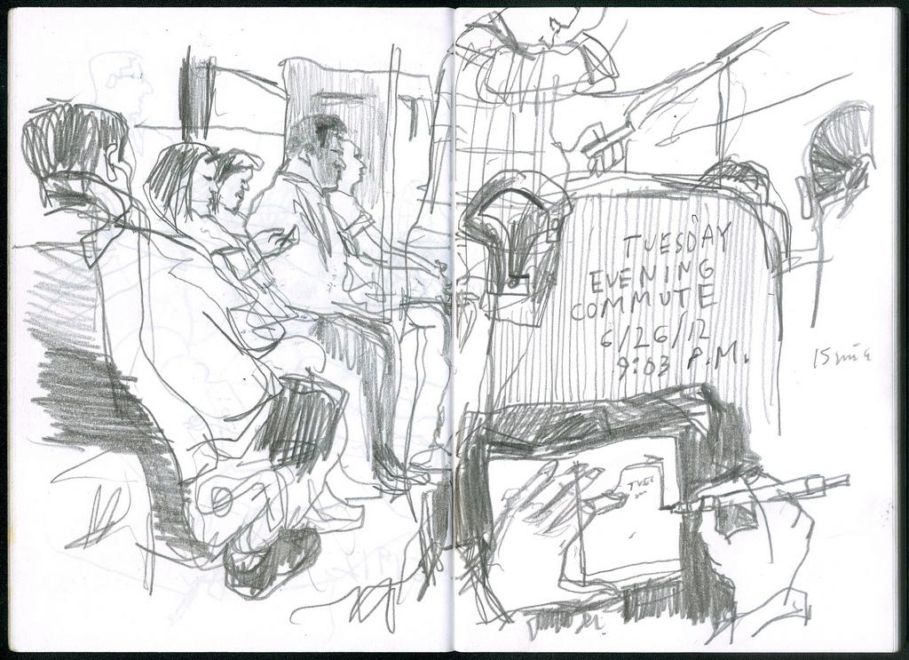1024x743 Public Transportation The Seattle Sketcher Seattle Times