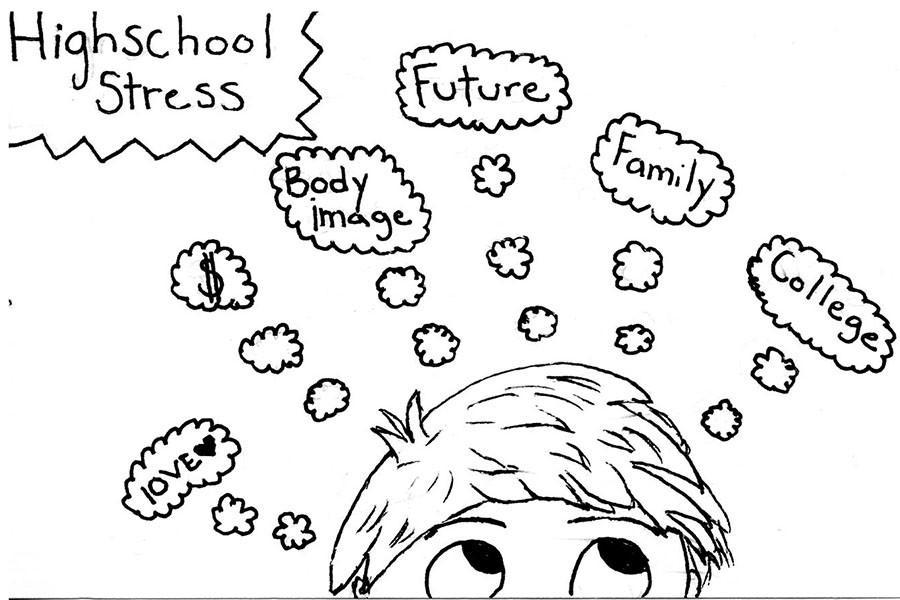 900x600 Cartoon High School Stress The Paw Print