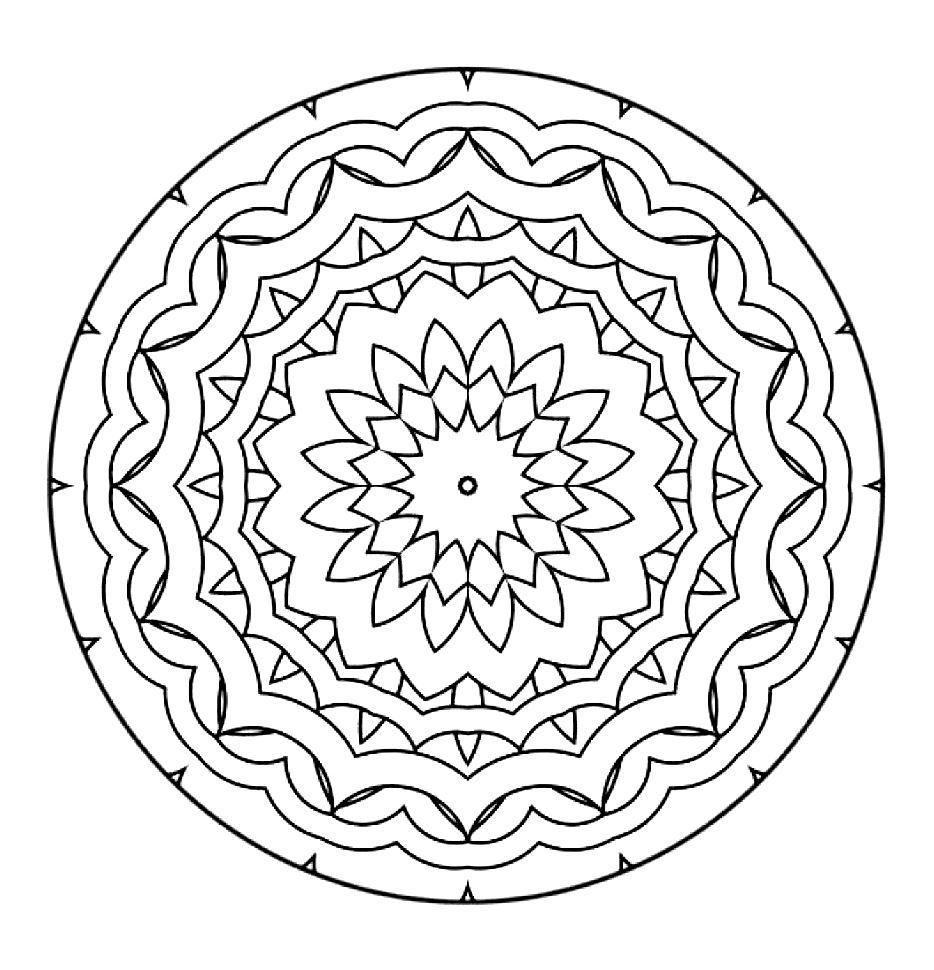 934x970 Mandala To Color Zen Relax Free 17 Zen Amp Anti Stress Mandalas