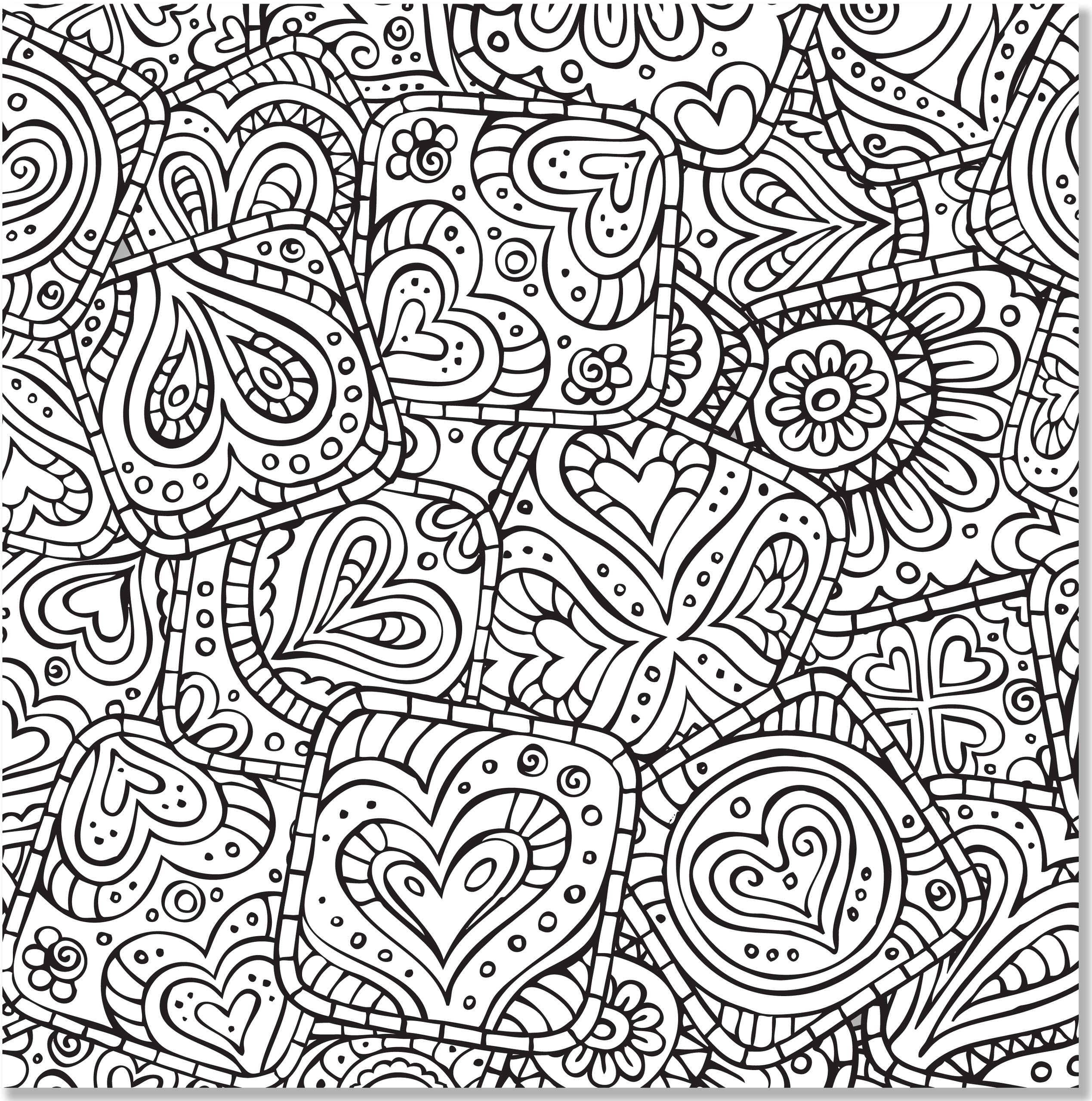 2538x2560 Doodle Designs Adult Coloring Book 31 Stress Relieving