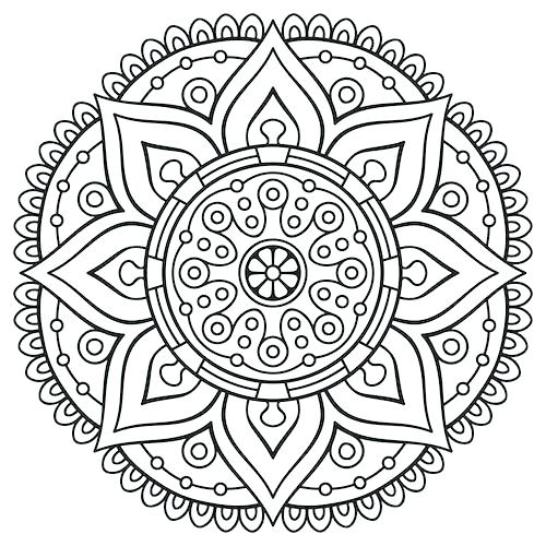 500x500 Elegant Stress Relief Coloring Pages And Animal Adult