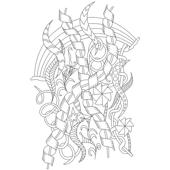 570x570 Adult Coloring Page Celebrate For Stress Relief