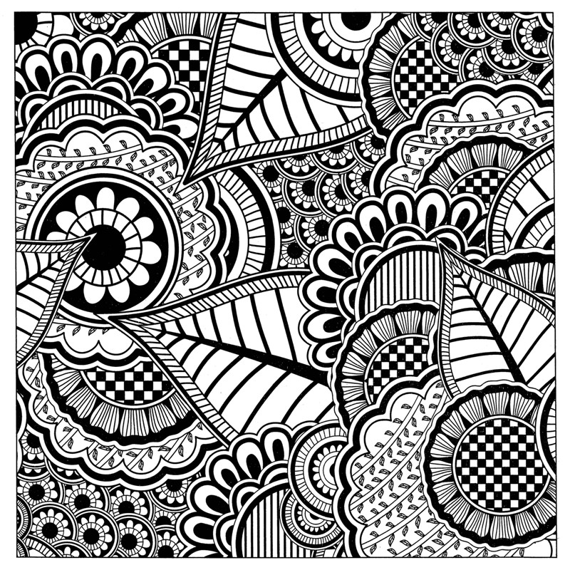 800x800 Mandala Book 104pages Hardcover Stress Relieving Drawing Material