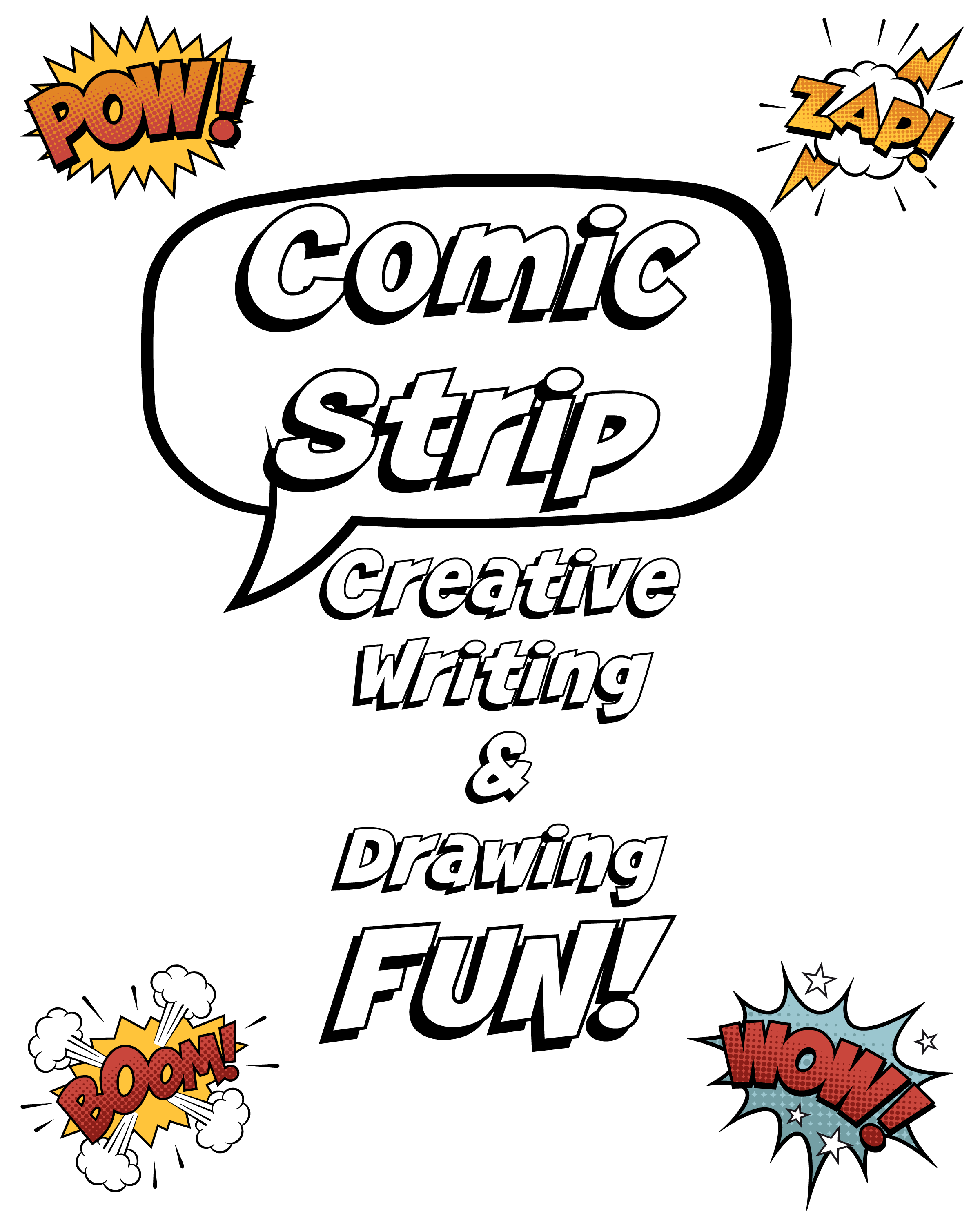 2400x3000 Comic Strip Creative Writing Amp Drawing Fun + Planner