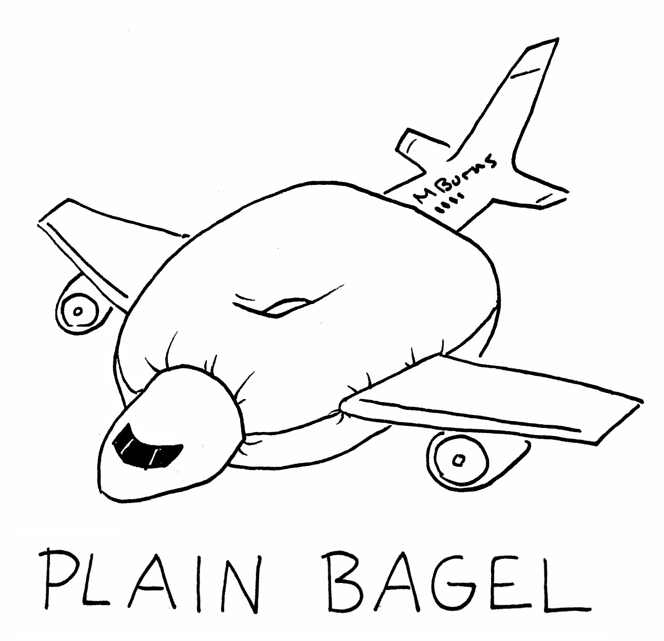 1294x1248 Comic Strip By Mike Burns Facebook Page! Plain Bagel, Male