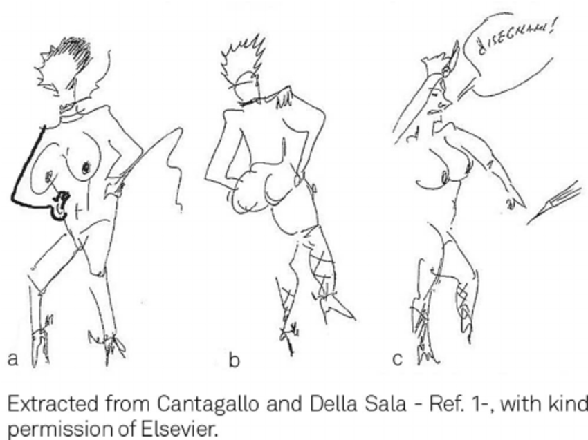 850x637 Drawings Made By Fellini After His Stroke, Suggesting Left Spatial