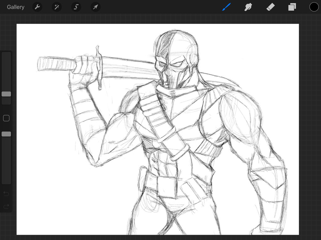 1024x768 Upcoming Death Stroke Drawing By Shelvshotpencil