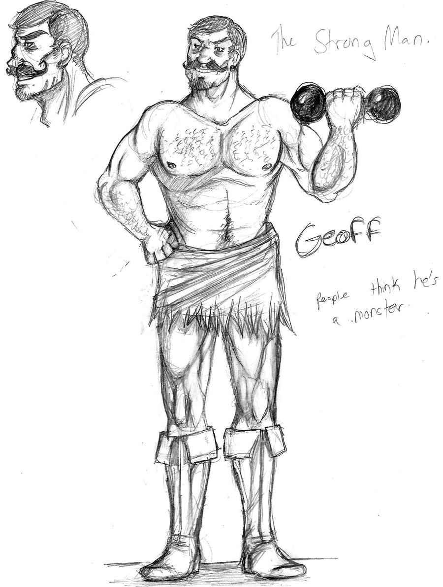 900x1190 Geoff, The Strong Man By Columbiasdismantler