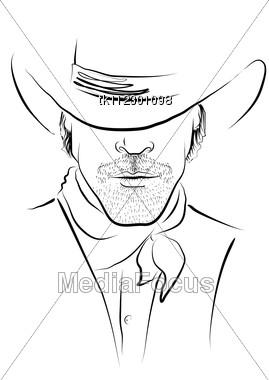 269x380 Portrait Cowboy White Strong Man In Cowboy Hat
