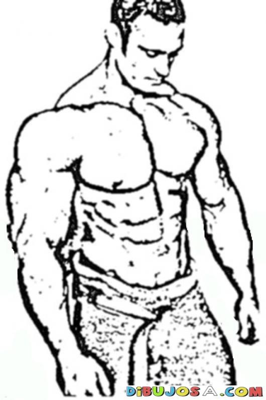 530x795 Strong Man Realistic Coloring Pages Colorear Dibujos De Cholo