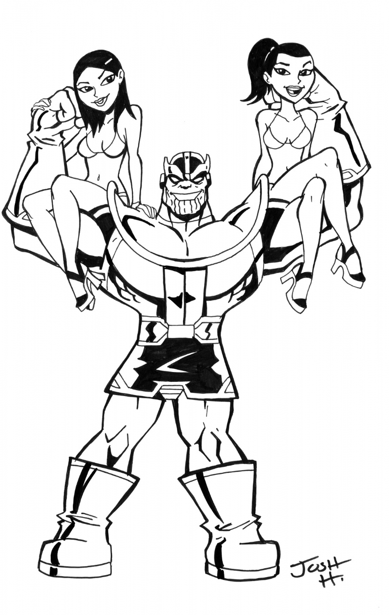 791x1250 Circus Strongman Thanos , In Steven Hoveke's Thanos Comic Art