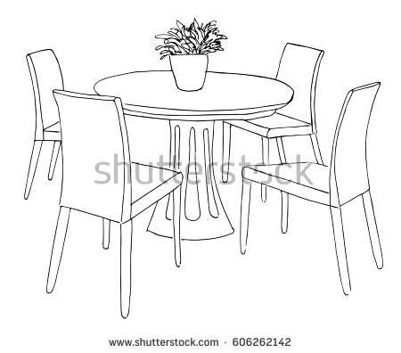 450x396 Drawing Of Chairs