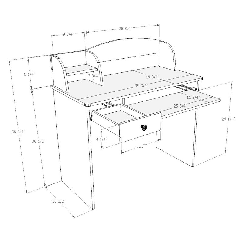 800x800 Alegria 5642 Student Desk From Nexera Natural Maple Ebay