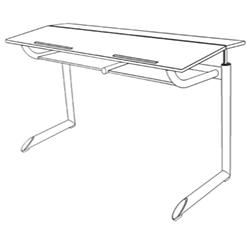 250x250 Student Desk Genio E With Bookshelf, Two Seater