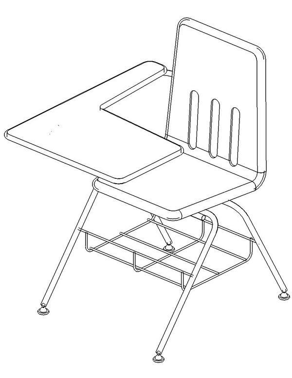 600x778 Student Desk Virco 9700br Revit Models Student