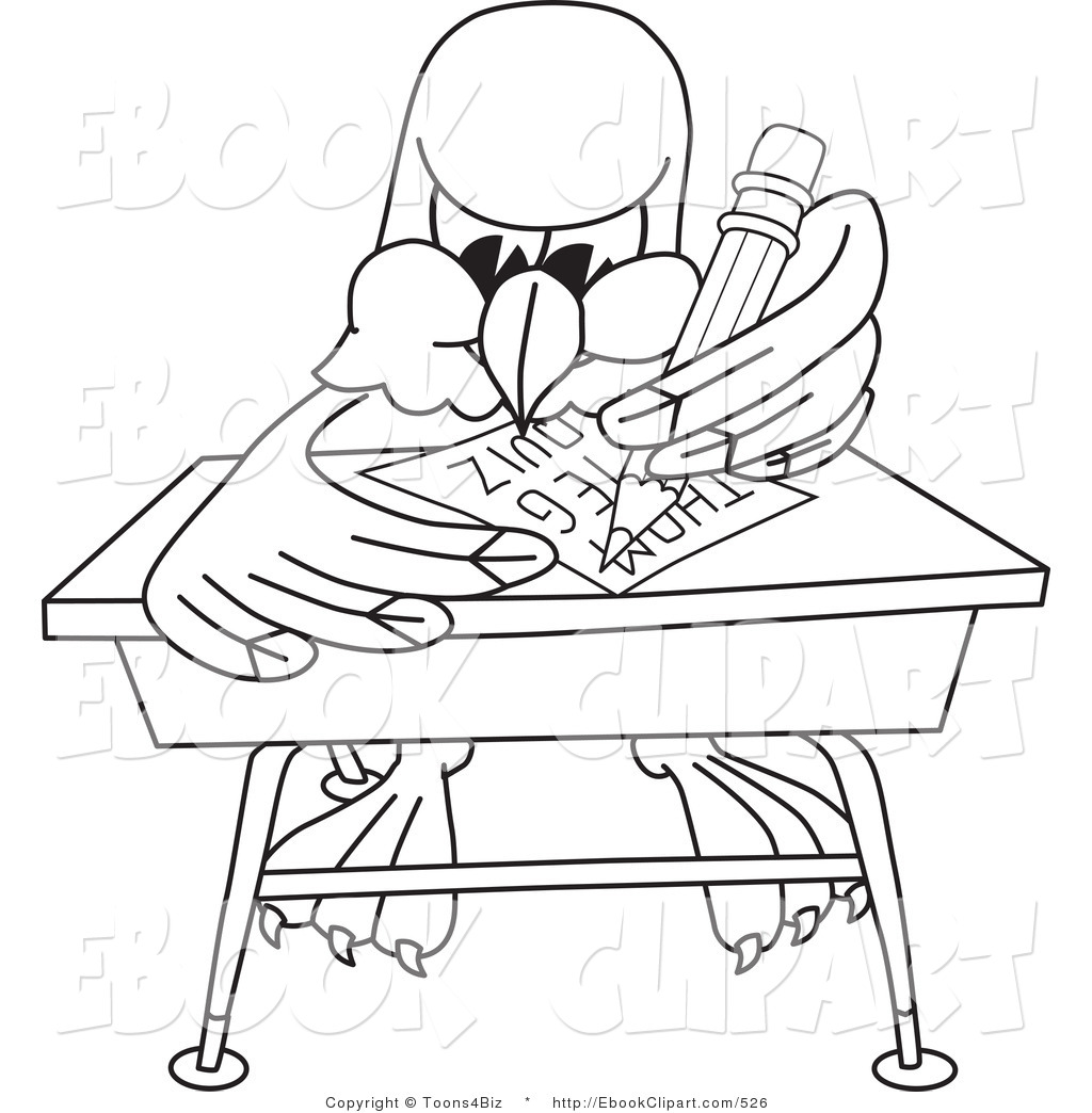 1024x1044 Vector Clip Art Of A Coloring Page Of A Bald Eagle Hawk Or Falcon