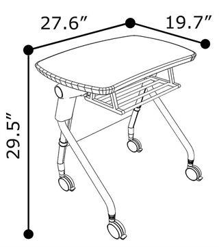 320x361 Brb Flip Top Student Desk