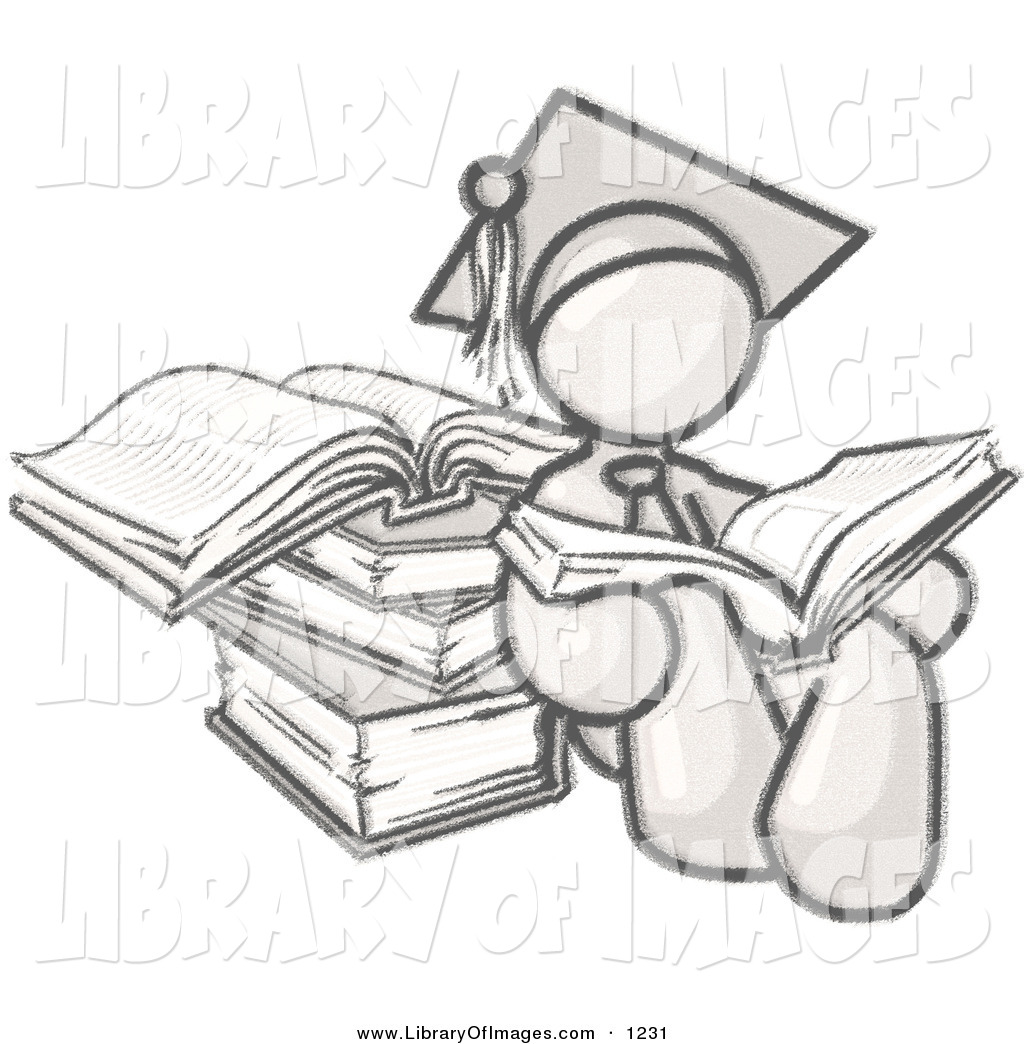 1024x1044 Clip Art Of A Sketched Design Mascot Male Student In A Graduation